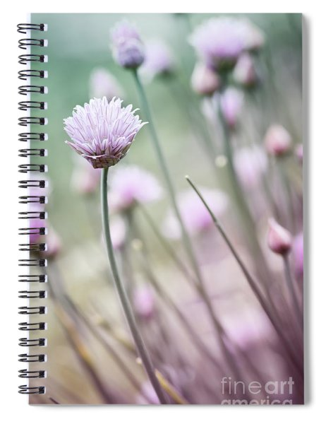 Flowering Chives I Spiral Notebook