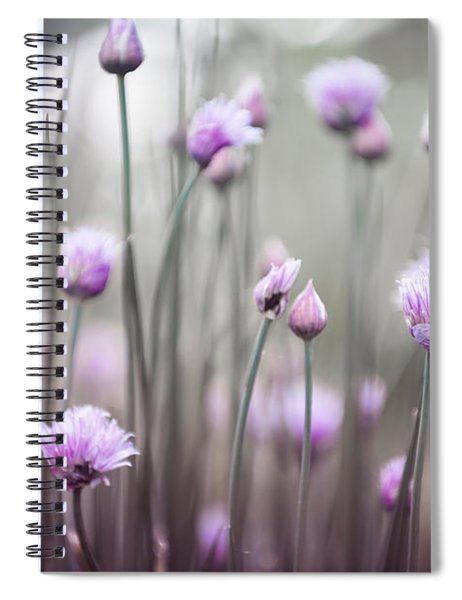 Flowering Chives Iv Spiral Notebook