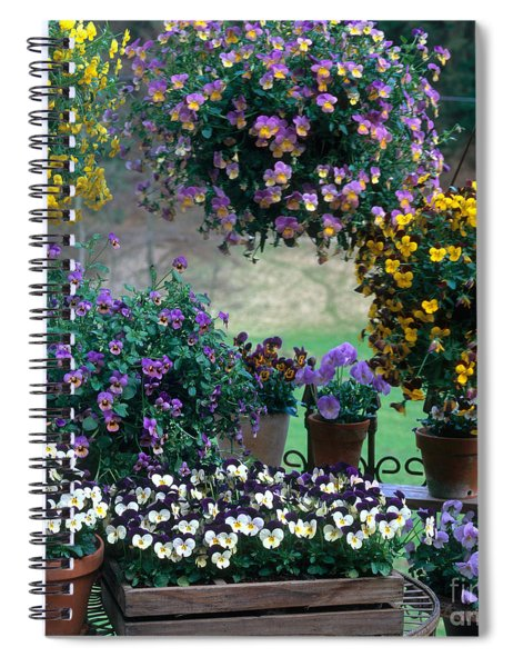Flowering Potted Plants Spiral Notebook