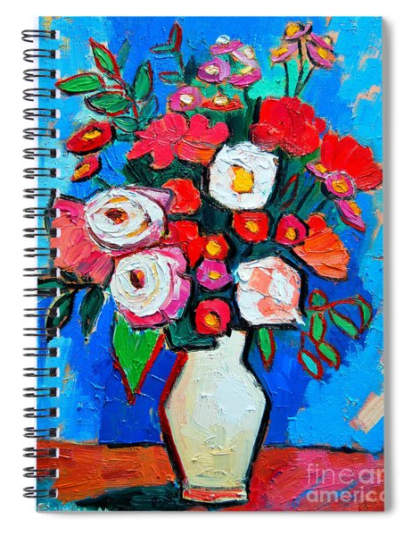 Flowers And Colors Spiral Notebook