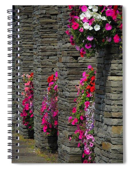 Flowers At Liscannor Rock Shop Spiral Notebook