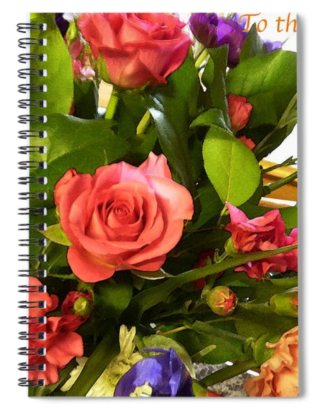 Mothers Day Card - Floral Spiral Notebook