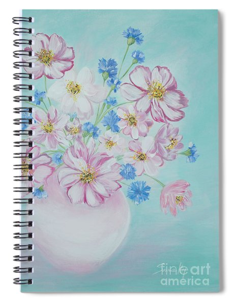 Flowers In A Vase. Inspirations Collection Spiral Notebook