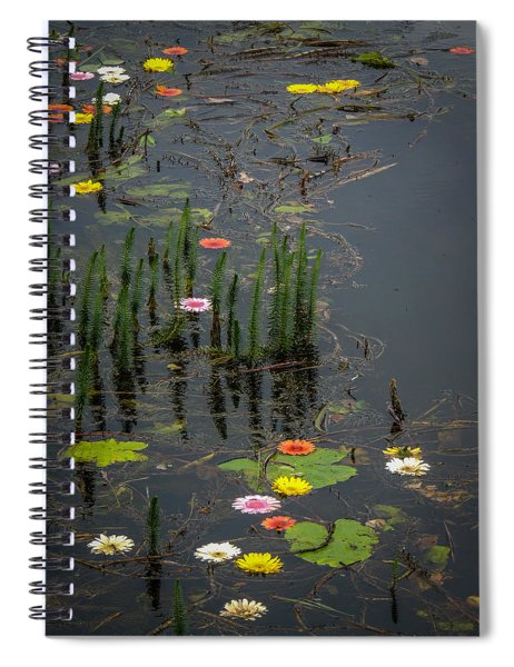 Flowers In The Markree Castle Moat Spiral Notebook