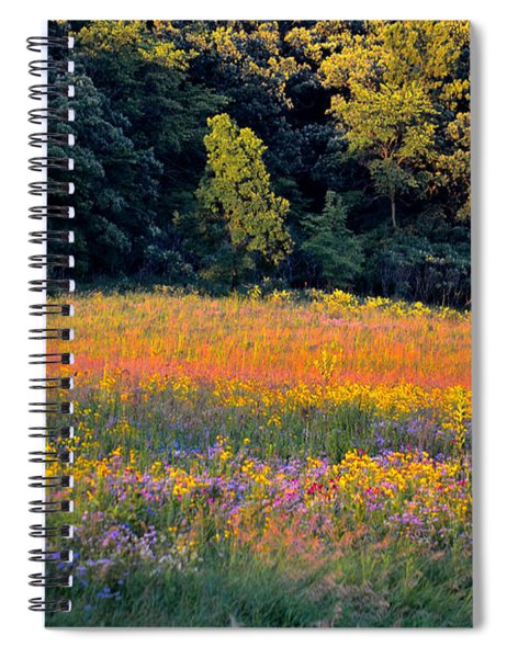 Flowers In The Meadow Spiral Notebook