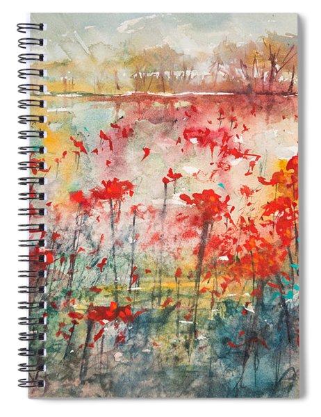 Flowers Never Worry Spiral Notebook