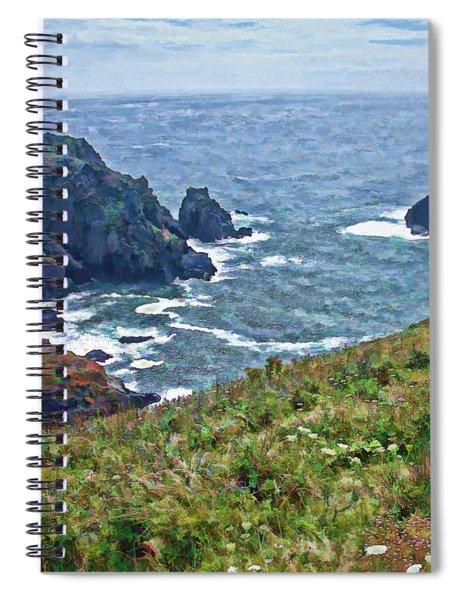 Flowers On Isle Of Guernsey Cliffs Spiral Notebook