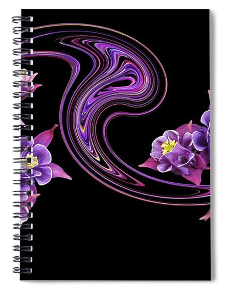 Flowing Purple Velvet 2 Spiral Notebook