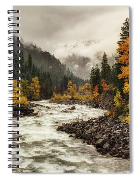 Flowing Through Autumn Spiral Notebook