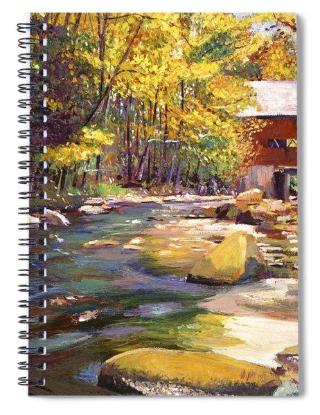 Flowing Water At Red Bridge Spiral Notebook