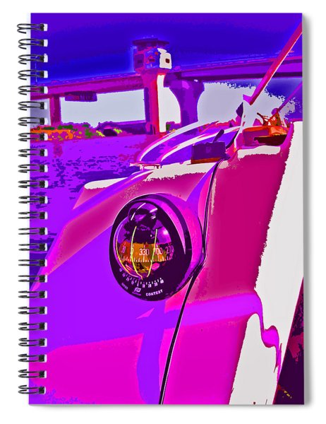 Floyd Pink And Purple Spiral Notebook