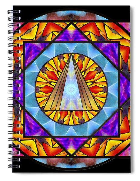 Spiral Notebook featuring the drawing Fluid Transformation by Derek Gedney