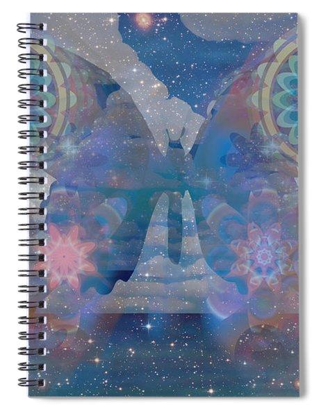 Flutterby Meditation Spiral Notebook