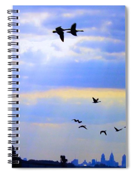 Fly Like The Wind Spiral Notebook