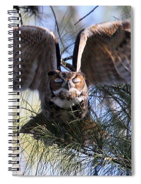 Flying Blind - Great Horned Owl Spiral Notebook