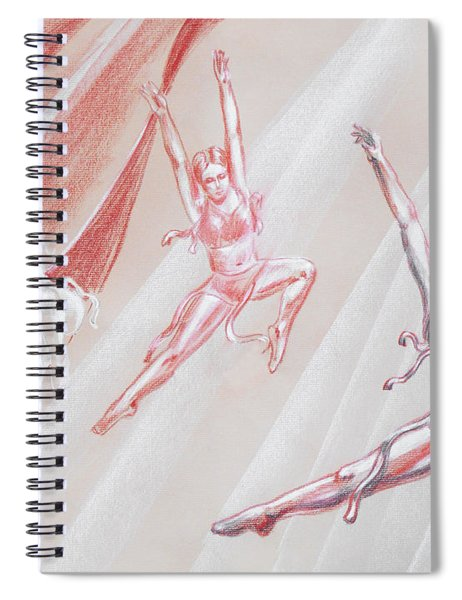 Flying Dancers  Spiral Notebook