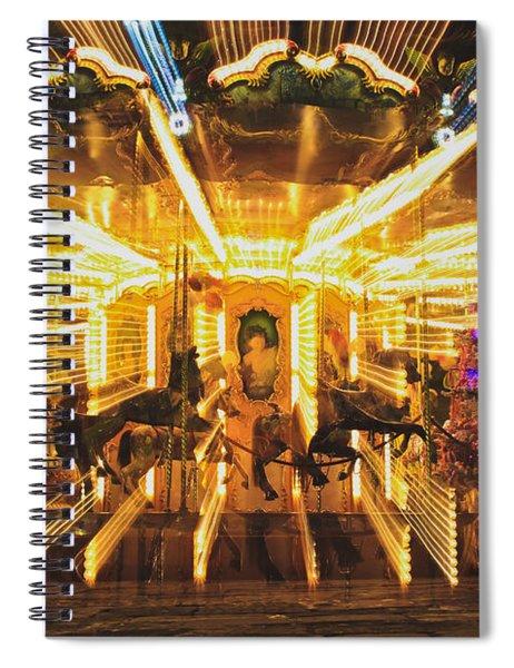 Flying Horses Carousel  Spiral Notebook