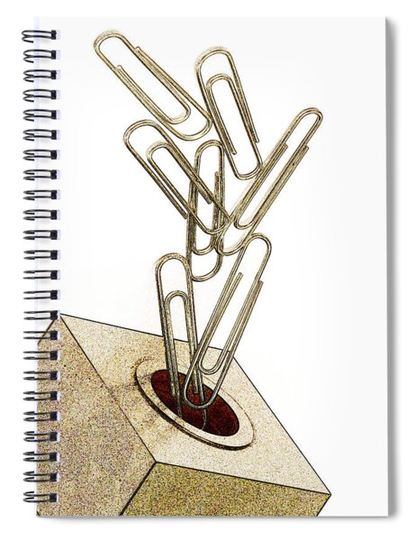 Flying Paperclips Spiral Notebook