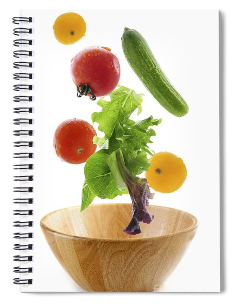 Flying Salad Spiral Notebook