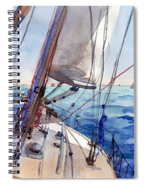 Flying The Chute Spiral Notebook