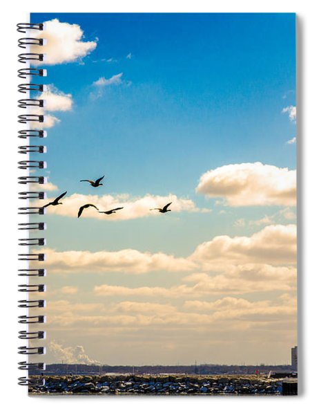 Flying To Discovery Spiral Notebook