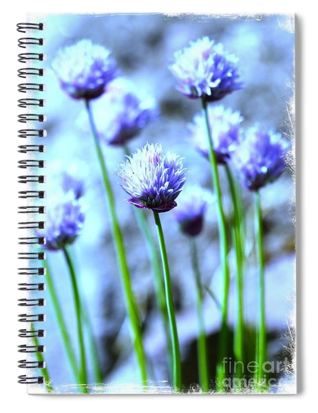 Focus On One Chive With Border Spiral Notebook