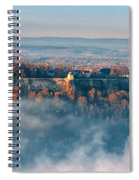 Fog Around The Fortress Koenigstein Spiral Notebook