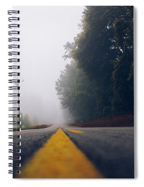 Fog On Highway Spiral Notebook
