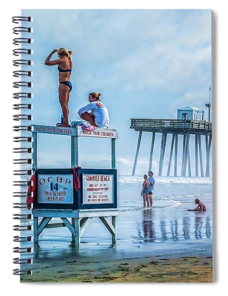 Foggy Beach View Spiral Notebook