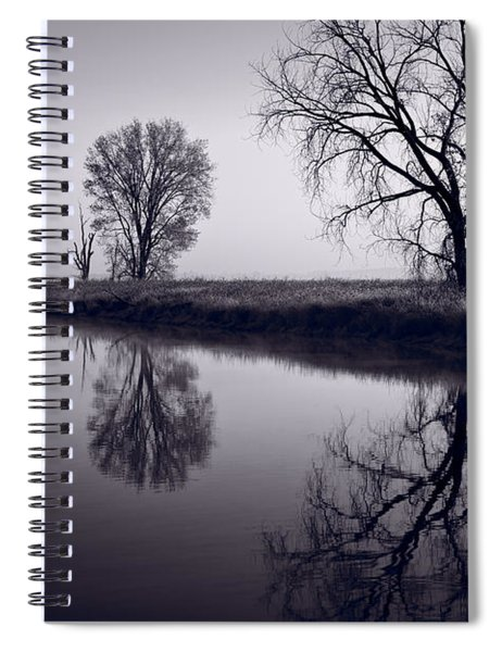 Foggy Morn Bw Spiral Notebook