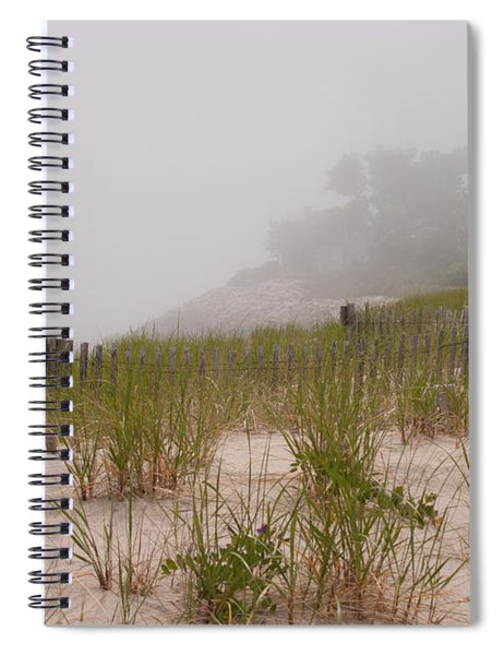 foggy morning on Chatham beach Spiral Notebook