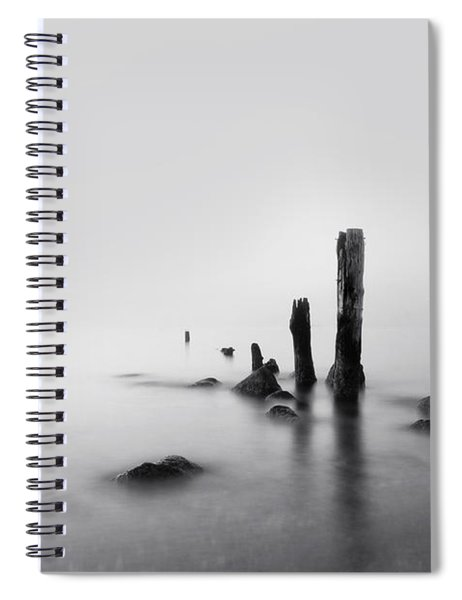Foggy New England Sea Spiral Notebook