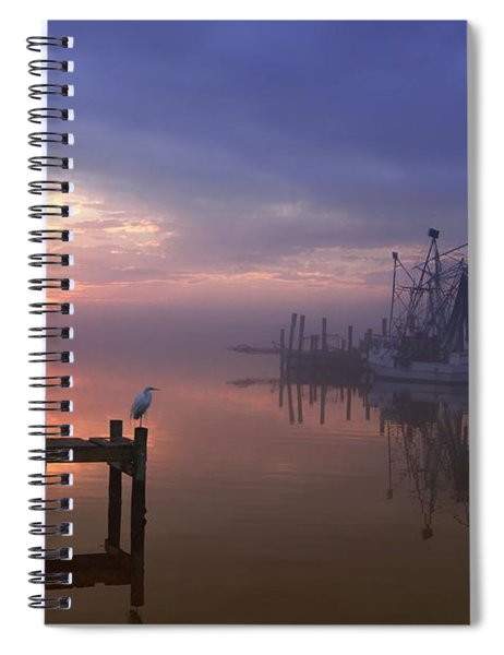 Foggy Sunset Over Swansboro Spiral Notebook
