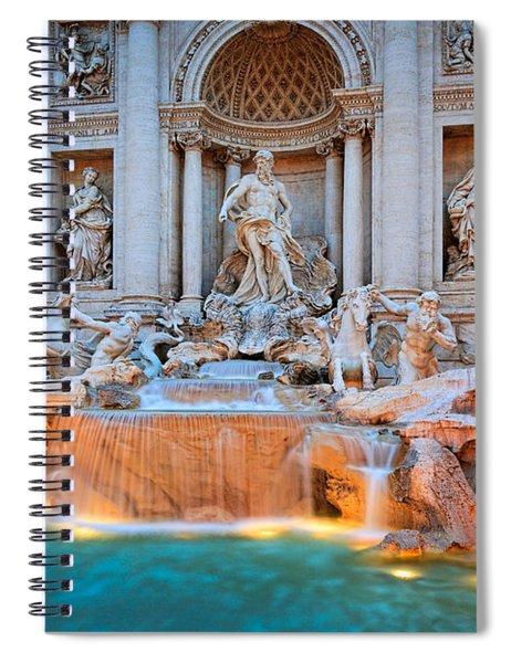 Fontana Di Trevi Spiral Notebook