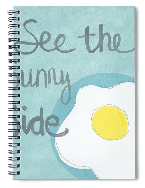 Food- Kitchen Art- Eggs- Sunny Side Up Spiral Notebook