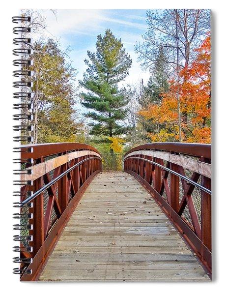 Foot Bridge In Fall Spiral Notebook
