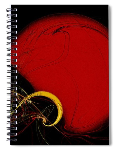 Football Helmet Red Fractal Art 2 Spiral Notebook