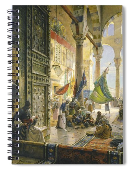 Forecourt Of The Ummayad Mosque, Damascus, 1890 Oil On Panel Spiral Notebook