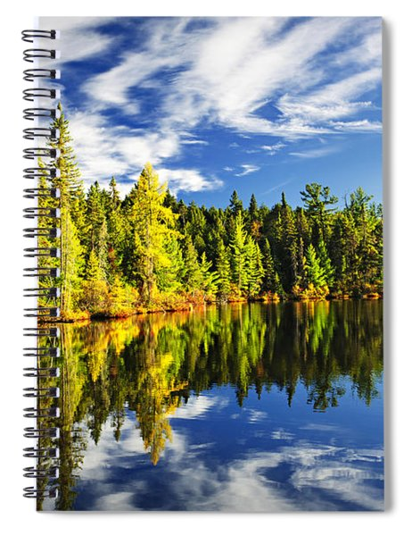 Forest Reflecting In Lake Spiral Notebook