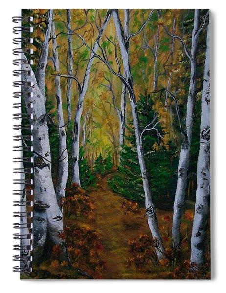 Birch Tree Forest Trail  Spiral Notebook