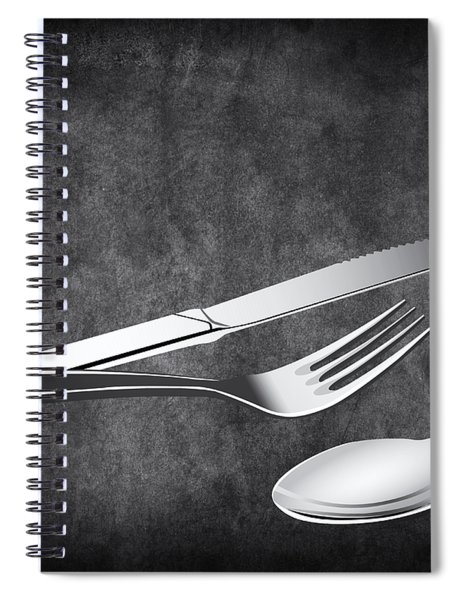Fork Knife Spoon 10 Spiral Notebook