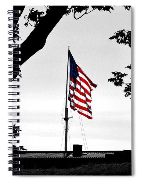 Fort Mchenry Flag Color Splash Spiral Notebook