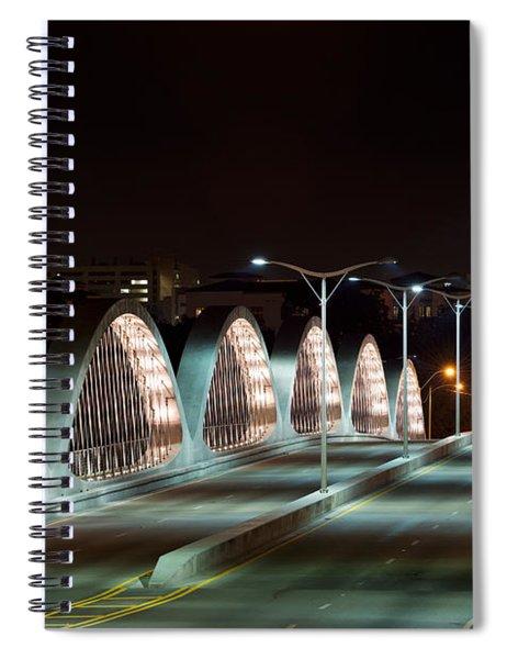 Fort Worth Seventh Street Bridge Oct 10 2014 Spiral Notebook