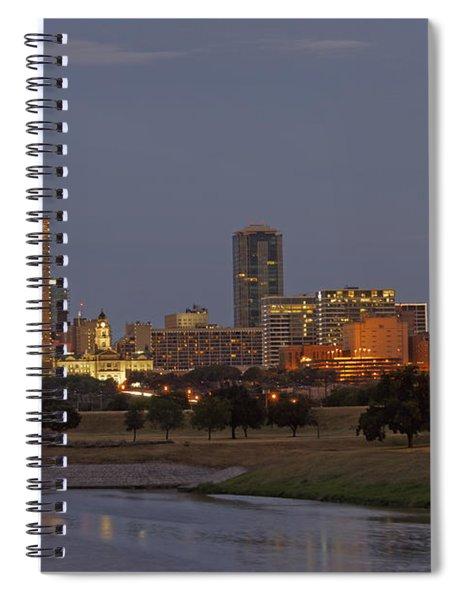 Fort Worth Skyline Golden Hour Spiral Notebook