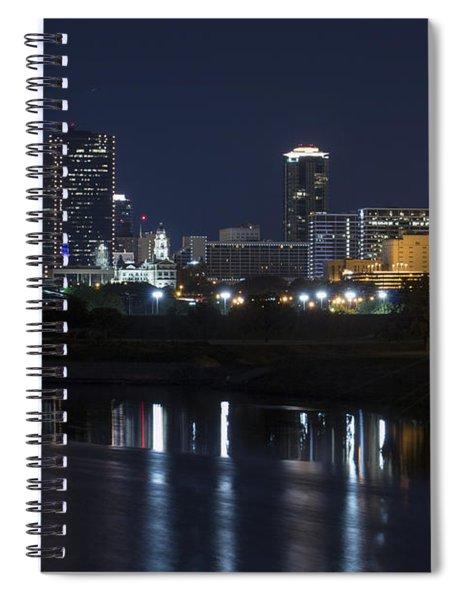 Fort Worth Skyline Super Moon Spiral Notebook
