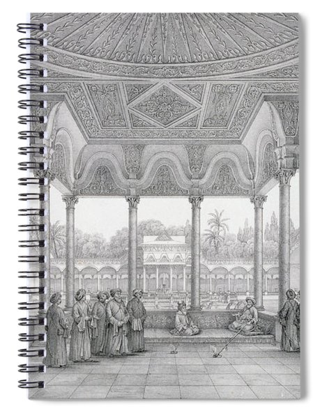 Fountain And Kiosk Of The Garden Of Choubrah Spiral Notebook