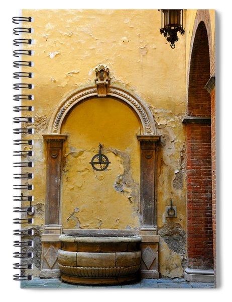 Fountain In Sienna Spiral Notebook