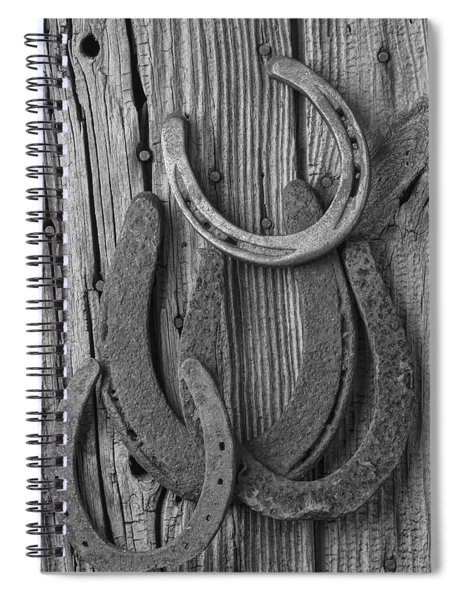 Four Horseshoes Spiral Notebook