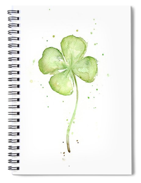 Four Leaf Clover Lucky Charm Spiral Notebook