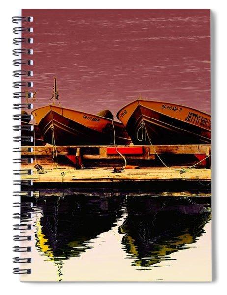 Four Little Boats Spiral Notebook